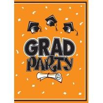 Orange Graduation Invitations