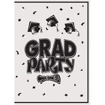 White Graduation Invitations
