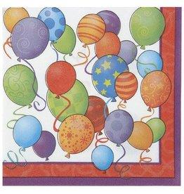 Birthday Balloons Lunch Napkins