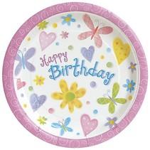 "Cute Birthday 7"" Plate"