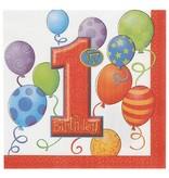 1st Birthday Balloon Lunch Napkin