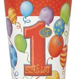 1st Birthday Balloons Cups 8 Ct