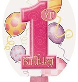 1st Birthday Pink Blowouts 8CT