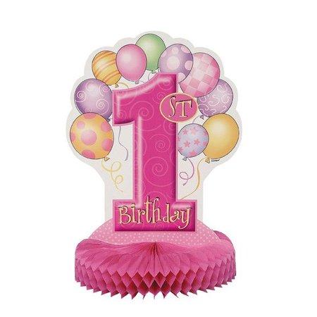 1st Birthday Pink Centerpiece