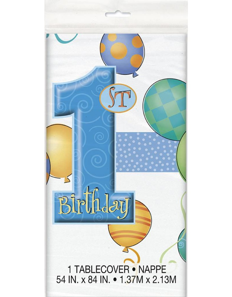 1st Birthday Blue Table Cover