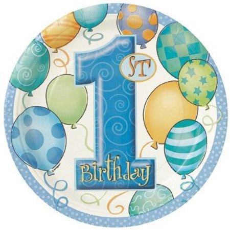 "1st Birthday 9"" Plates 8 Ct"