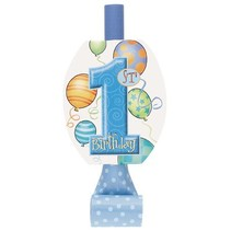 1st Birthday Blue Blowouts 8 CT