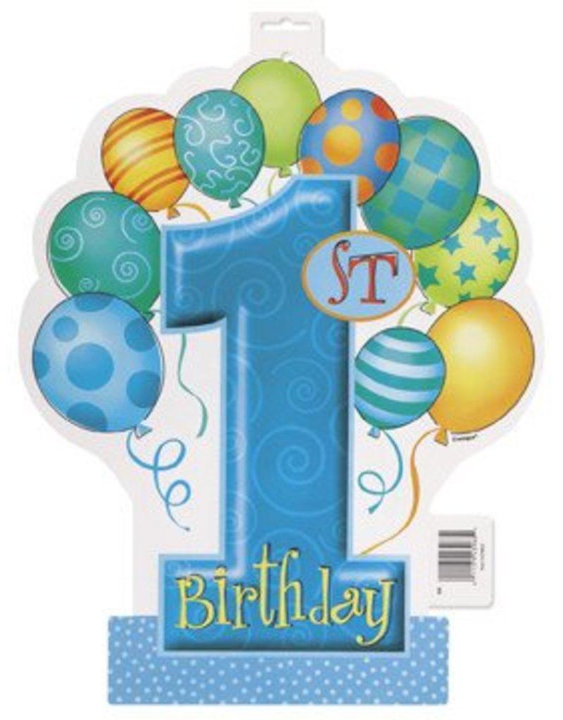 1st Birthday Blue Cutout