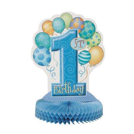 1st Birthday Blue Centerpiece