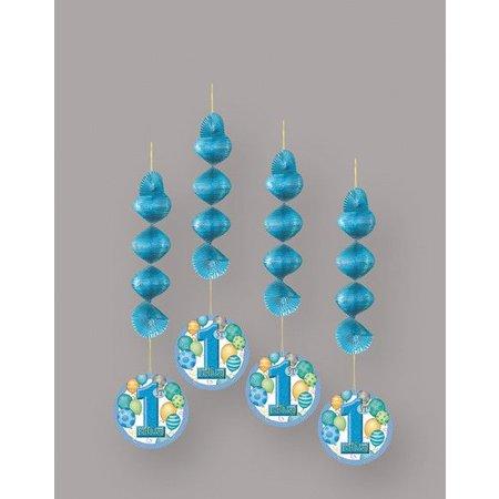 1st Birthday Blue Hanging Decorations