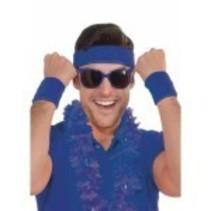Wristbands & Headband Blue