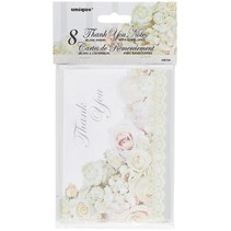 Wedding Roses Thank You Notes