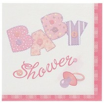 Baby Stitch Lunch Napkin Pink