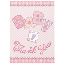 Baby Stitch Thank You Pink 8 CT