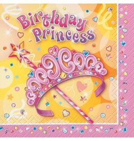 Birthday Princess Beverage Napkin 16 CT