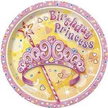 """Birthday Princess 7"""" Plate 8 CT"""