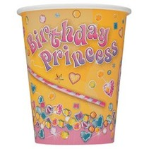 Birthday Princess Cups 8 CT