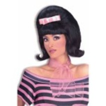 Bouffant Wig Black