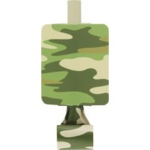 Camo Party Blowouts 8 CT
