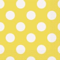 Yellow Polka Dot Luncheon Napkin