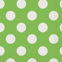 Lime Green Polka Dot Beverage Napkin