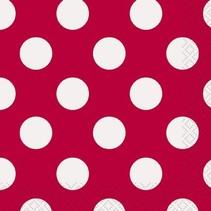 Red Polka Dot Beverage Napkin