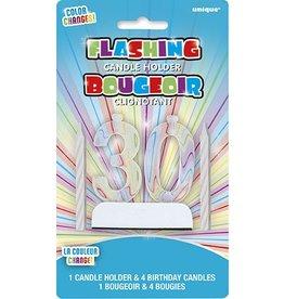 Flashing 30 Candle Holder