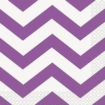 Purple Chevron Beverage Napkin 16 CT