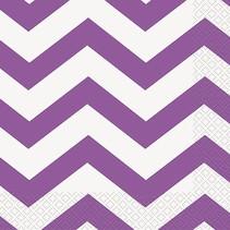 Purple  Chevron Luncheon Napkin 16 CT