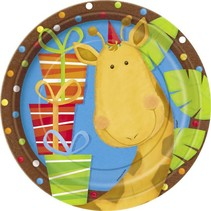 """Jungle Party 9"""" Plates 8 CT"""