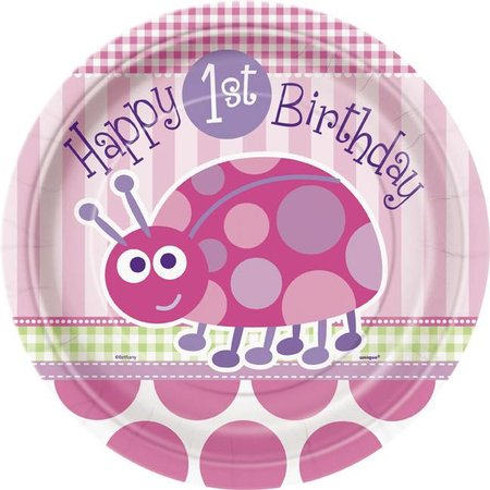 "1st Birthday Lady Bug 9"" Plate"