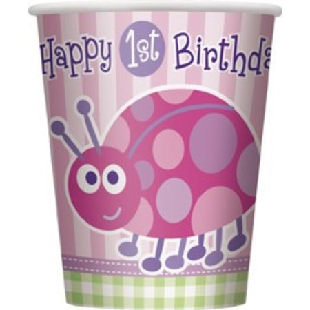 1st Birthday Lady Bug Cups 8 CT