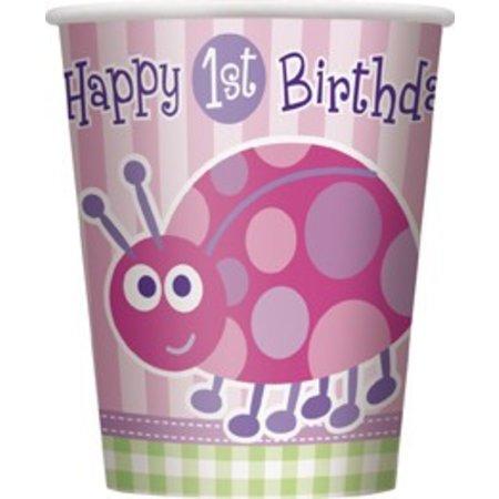1st Birthday Lady Bug Cups 8 CT