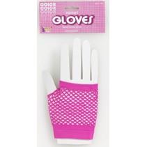Fishnet Glove Pink