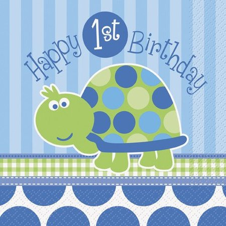 1st Birthday Turtle Lunch Napkin 16 CT