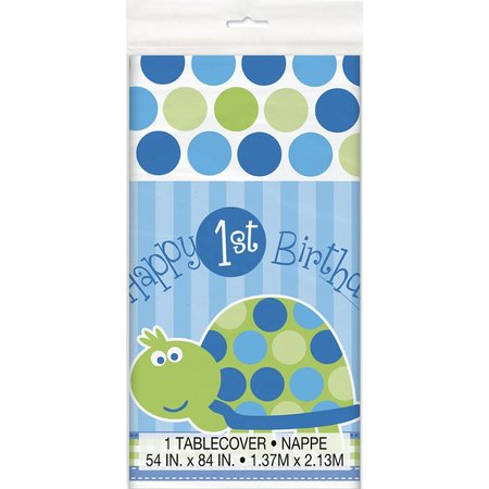 1st Birthday Turtle Table Cover