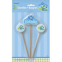 1st Birthday Turtle Candles