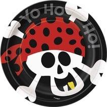 """Pirate Fun 7"""" Plate 8 CT"""