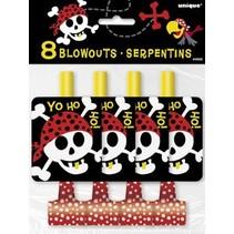 Pirate Fun Blowouts 8 CT