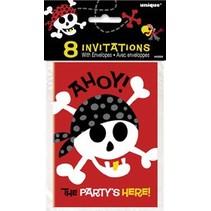 Pirate Fun Invitations 8 CT