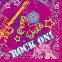 Rock On Beverage Napkin 16 CT