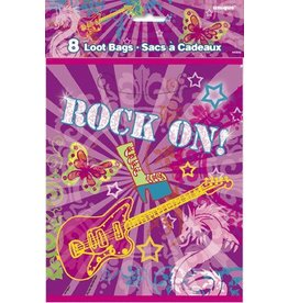 Rock On Loot Bags 8 CT