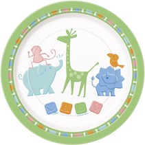 """Animal Crackers 9"""" Plate 8 CT"""