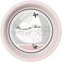 "Elegant Wedding 9"" Plate 8 CT"