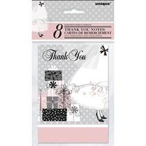 Elegant Wedding Thank You Cards 8 Ct