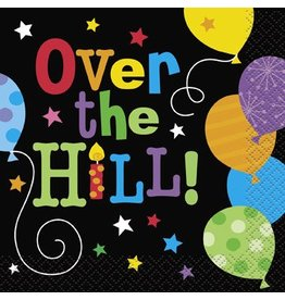 Over The Hill Balloons Beverage Napkin 16 CT