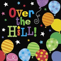Over The Hill Balloons Luncheon Napkin 16 CT