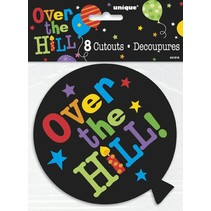 Over The Hill Balloon Cutouts 8 CT