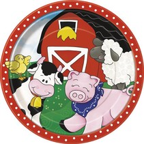 "Farm Friends 9"" Plate 8 CT"