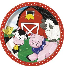 "Farm Friends 9"" Plate 8 CT"